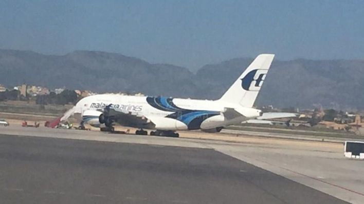 Airbus A-380 con capacidad para 500 pasajeros, en Son Sant Joan