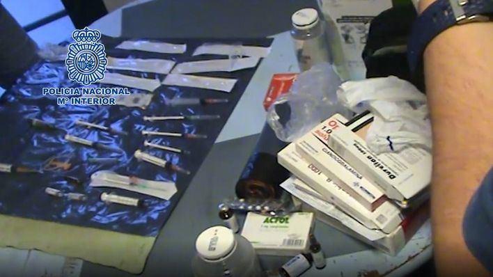 Detenidos seis ciclistas y otras cinco personas por distribuir sustancias dopantes