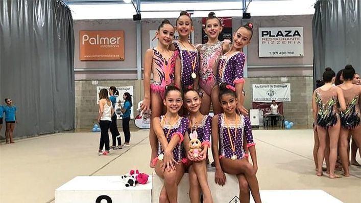 Sport Ritmic se alza con el Campeonato de Mallorca Base de gimnasia rítmica en cuerda