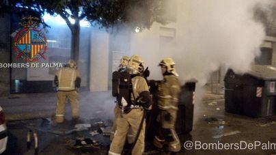 Arde un contenedor en la calle Alfons el Magnànim de Palma