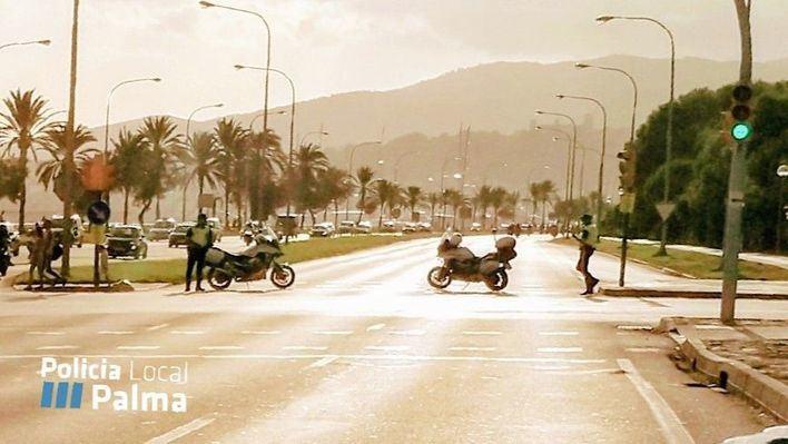 Cortes de tráfico en Palma por la celebración de una prueba deportiva