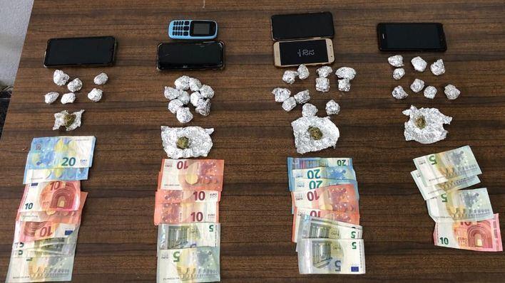 Cuatro detenidos en un local de Son Gotleu por venta de estupefacientes