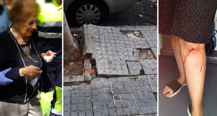 Las calles del Coll d'en Rabassa suman accidentes por el estado de las aceras
