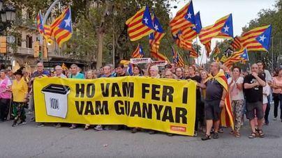 El independentismo no supera los 18.000 asistentes en la manifestación en Barcelona por el 1-O
