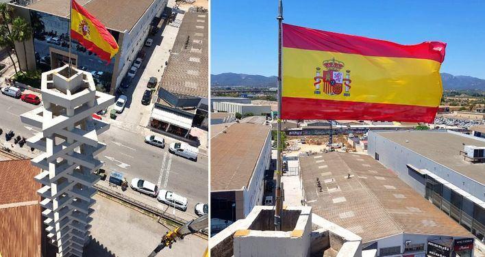 La bandera española en el 'techo' de Asima