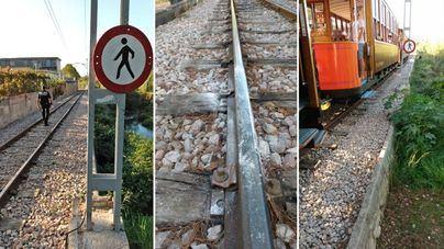 Identifican en Sóller a ocho menores que ponían piedras en las vías del tren