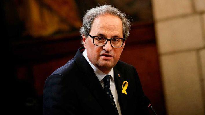 Torra pide una reunión urgente con el Rey y Pedro Sánchez para