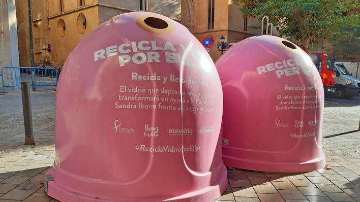 Palma coloca diez depósitos para reciclar vídrio y luchar contra el cáncer de mama