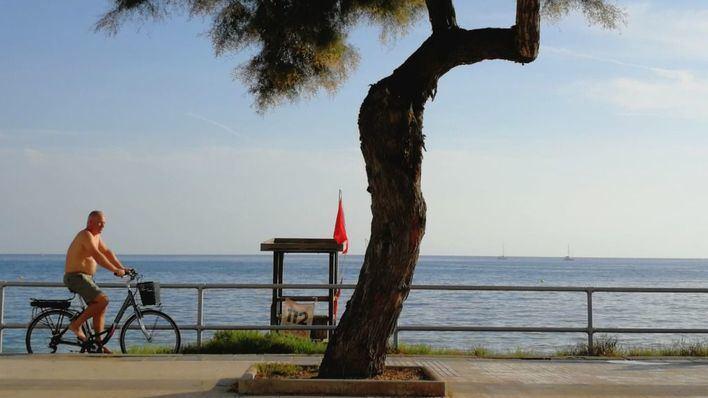 Vuelve la bandera roja a las playas de Palma
