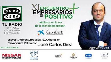 El economista José Carlos Díez protagoniza el 'XI Encuentro de Empresarios en Positivo'