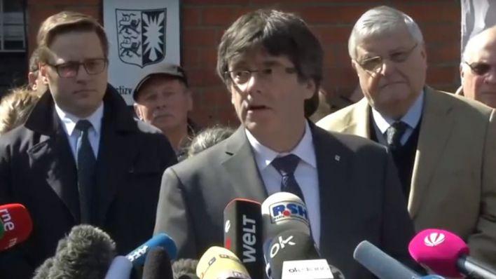 Puigdemont queda en libertad con condiciones tras comparecer ante la Justicia belga