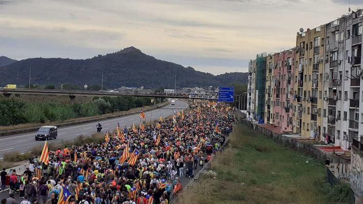 Las 'Marchas por la Libertad' reúnen a medio millón de personas en Barcelona