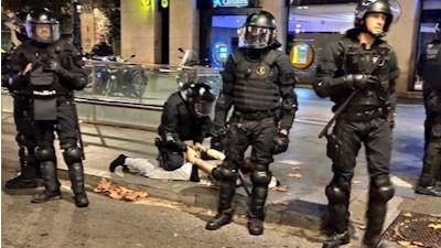 Noche de tensión en Cataluña