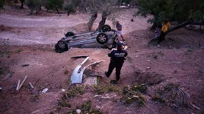 Un herido en un aparatoso accidente de tráfico en Sóller
