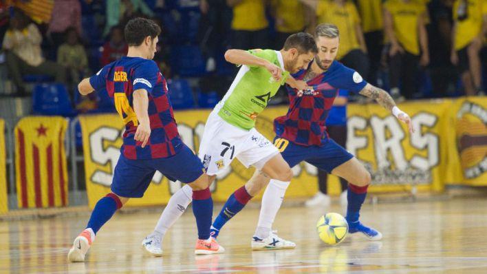 Sufrida victoria del Palma Futsal en el Palau Blaugrana