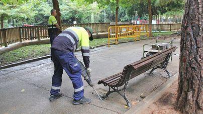 Comienza la renovación del pavimento del parque de Son Cotoner