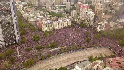Histórica manifestación en Santiago de Chile con más de un millón de participantes