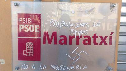Los socialistas denuncian pintadas fascistas en su sede de Marratxí