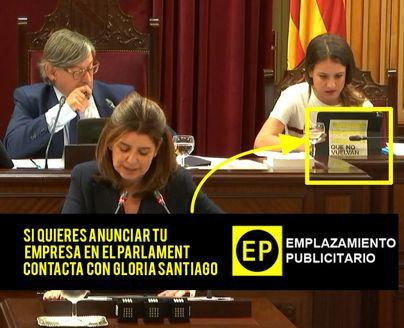 ¿Quiere publicitarse en el Parlament? Llame a Gloria Santiago