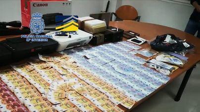 Desmantelan una imprenta clandestina y evitan la distribución de 250.000 euros falsos