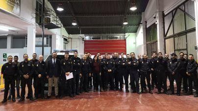 120 policías nacionales realizan un curso en el Antiguo Parque de Bomberos ASIMA