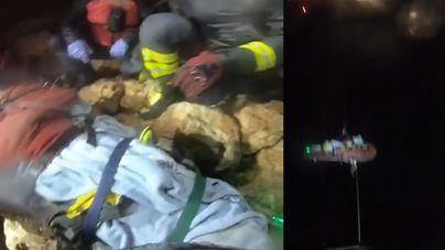 Complicado rescate en Cap des Falcó