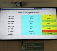 Son Espases instala pantallas informativas en las salas de espera de Urgencias
