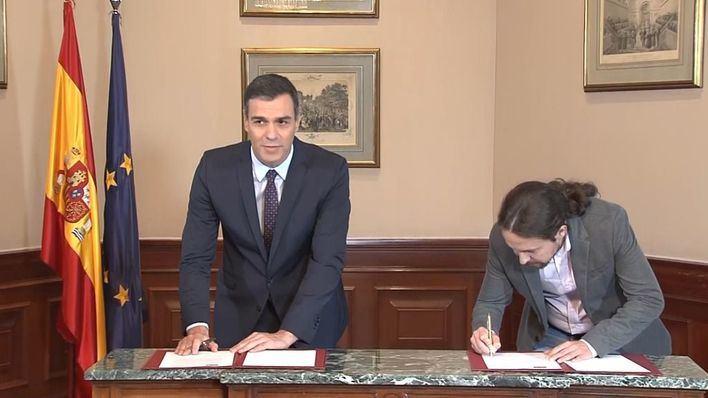 Sánchez considera 'imprescindible' el pacto con Podemos y pide el apoyo de la militancia