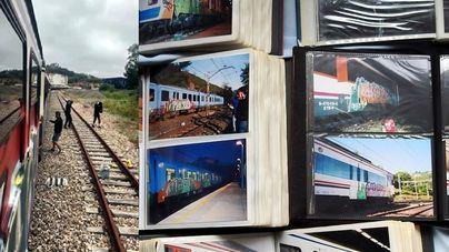 Caen cuatro grafiteros por pintadas en 2.000 trenes de Mallorca, resto del país y Europa