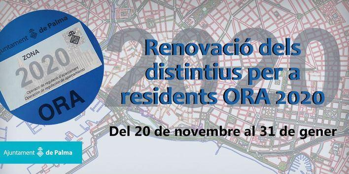 Más de 18.000 residentes de Palma deben renovar el distintivo Zona ORA antes del 31 de enero