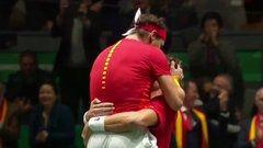 Rafa Nadal da el punto definitivo para que España conquiste la Copa Davis