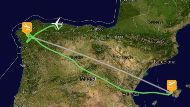 El vuelo de Palma a Santiago de Ryanair aterriza en Asturias por las fuertes rachas de viento