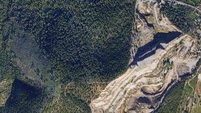 Cantera de Establiments: voladuras para extraer 170.000 metros cúbicos de material