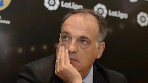 Tebas se marcha de la Liga de Fútbol Profesional con la intención de volver
