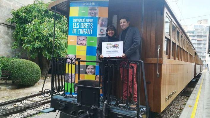 Ferrocarril de Sóller entrega 5.005,50 euros a UNICEF Baleares