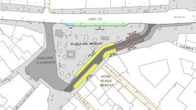 Entra en vigor la peatonalización en el entorno de la plaza del Mercat de Palma
