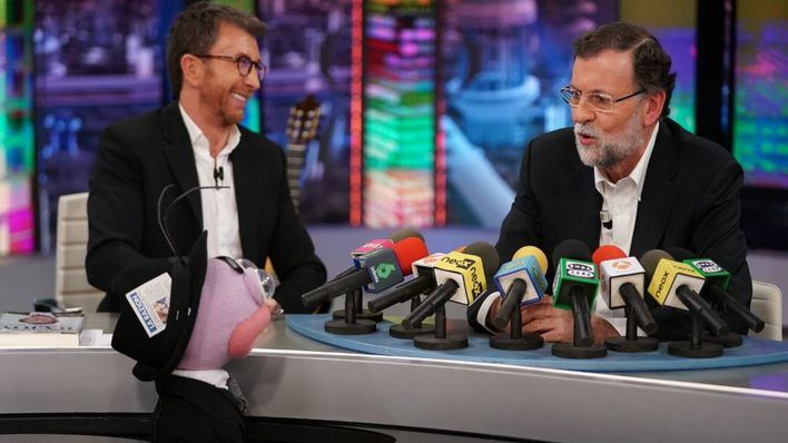 Mariano Rajoy, líder de audiencia en su visita a 'El hormiguero'