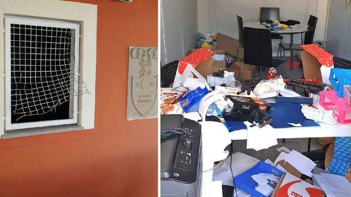 Destrozos y robos en el campo de fútbol de Rotlet del Molinar