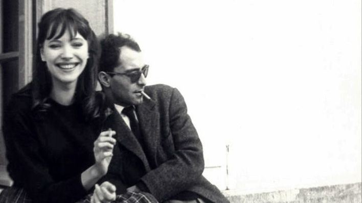 Anna Karina y a Jean-Luc Godard