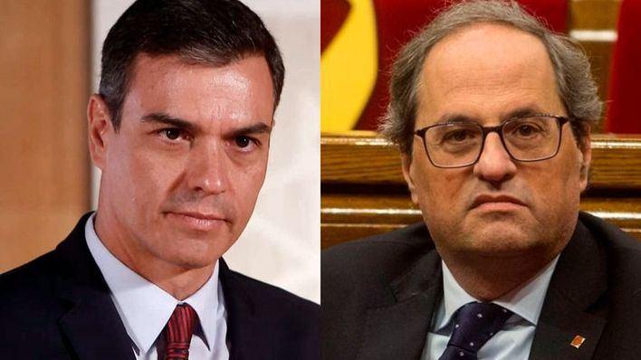Torra exige a Sánchez por teléfono el 'fin de la represión' y acuerdan un encuentro 'cuanto antes'