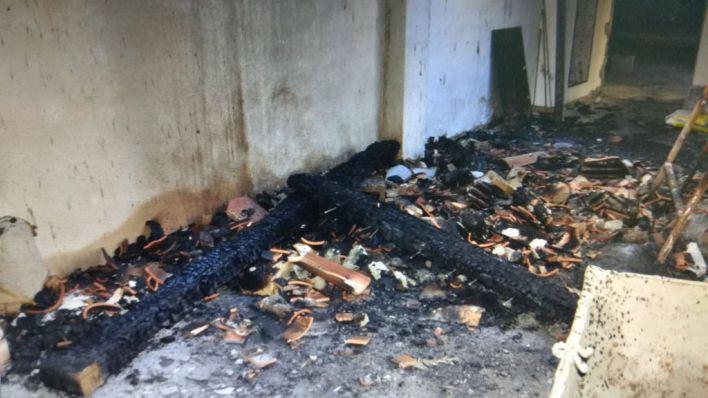 Detenido por provocar un incendio en un edificio en obras al no ser contratado para trabajar