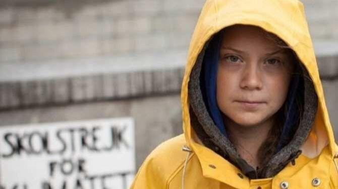 Letras de Greta Thunberg en Ibiza para arrancar el año a favor del medioambiente