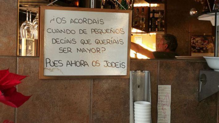 Verdades como puños en bares de Palma