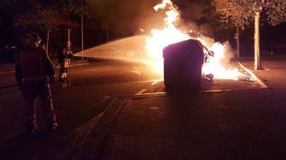 Noche de quema de contenedores en Manacor