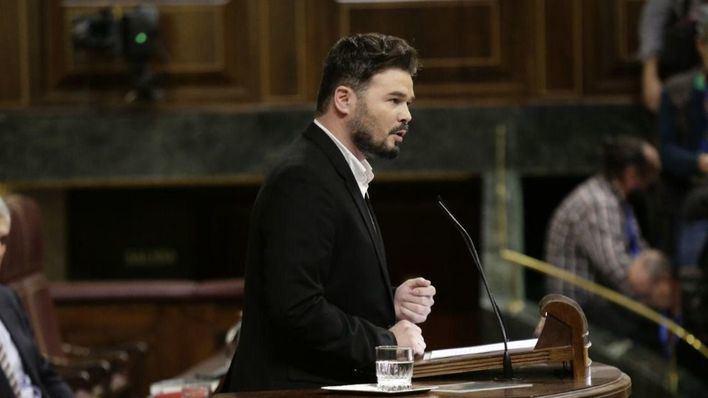 Rufián le recuerda a Sánchez que sin mesa de diálogo entre Generalitat y Gobierno 'no habrá legislatura'