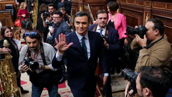 Sánchez: 'Gobernará una coalición progresista porque así lo han decidido los españoles'