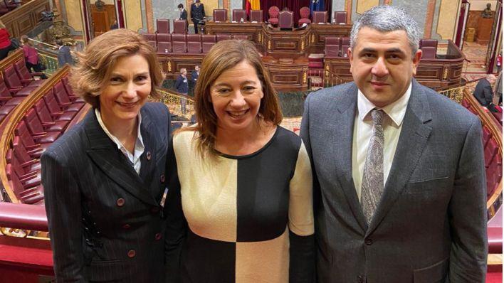 Armengol, tras la investidura de Sánchez: 'A partir de aquí se escribirá un país mejor'