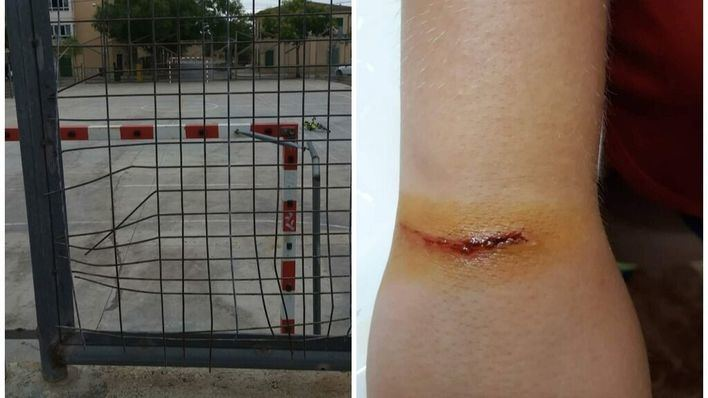 El PP denuncia graves desperfectos en la pista deportiva de s'Aranjassa