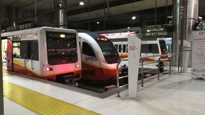 El metro de Palma suma un 1,1 por ciento de viajeros