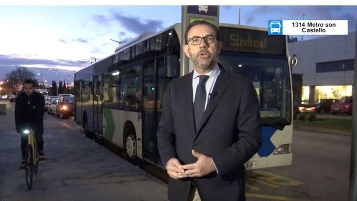 Una línea de autobús a Son Castelló para transportar sólo dos trabajadores